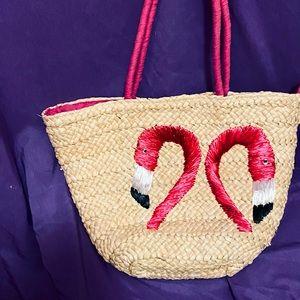 Dangerfield Flamingo Straw Bag